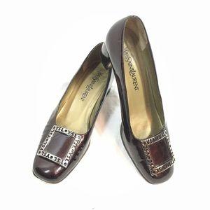 VTG Yves Saint Laurent Logo Loafers Shoes